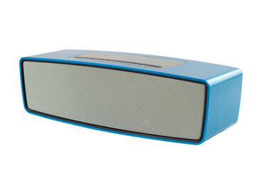 Blue wireless speaker