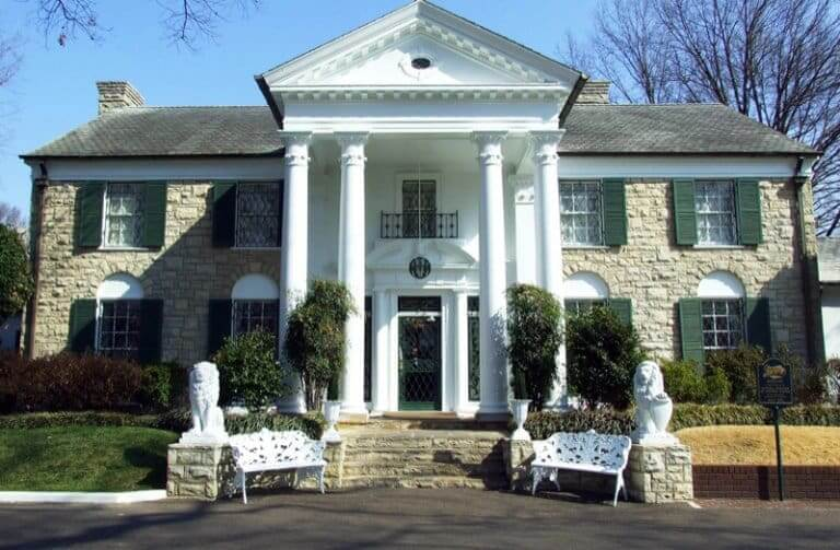Graceland Mansion Memphis, known as a haunted house