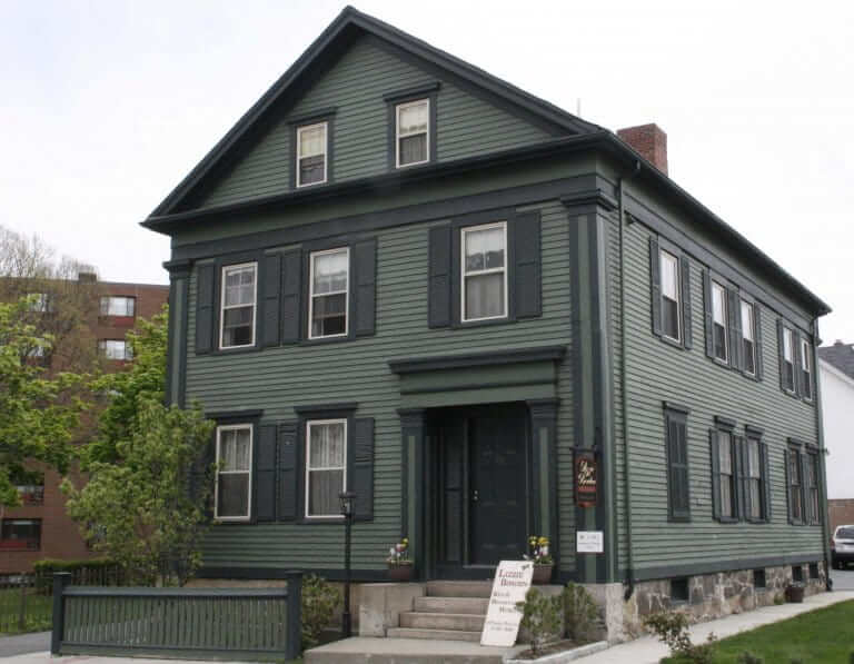 Lizzie Borden house Fall River, known as a haunted house
