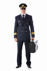 Flight captain standing
