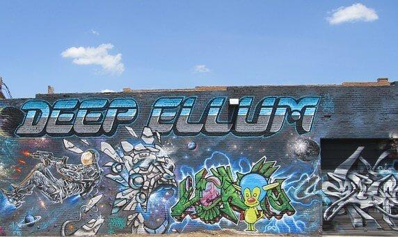 Street graffiti in Deep Ellum Dalls
