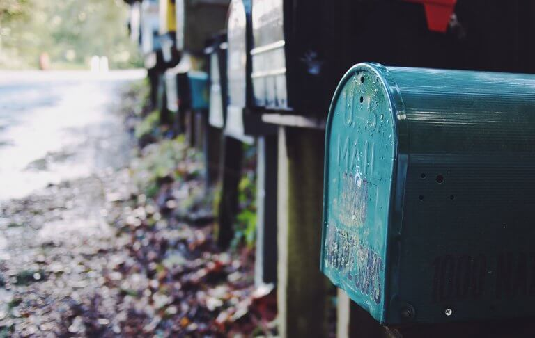 Multiple mailboxes in the street