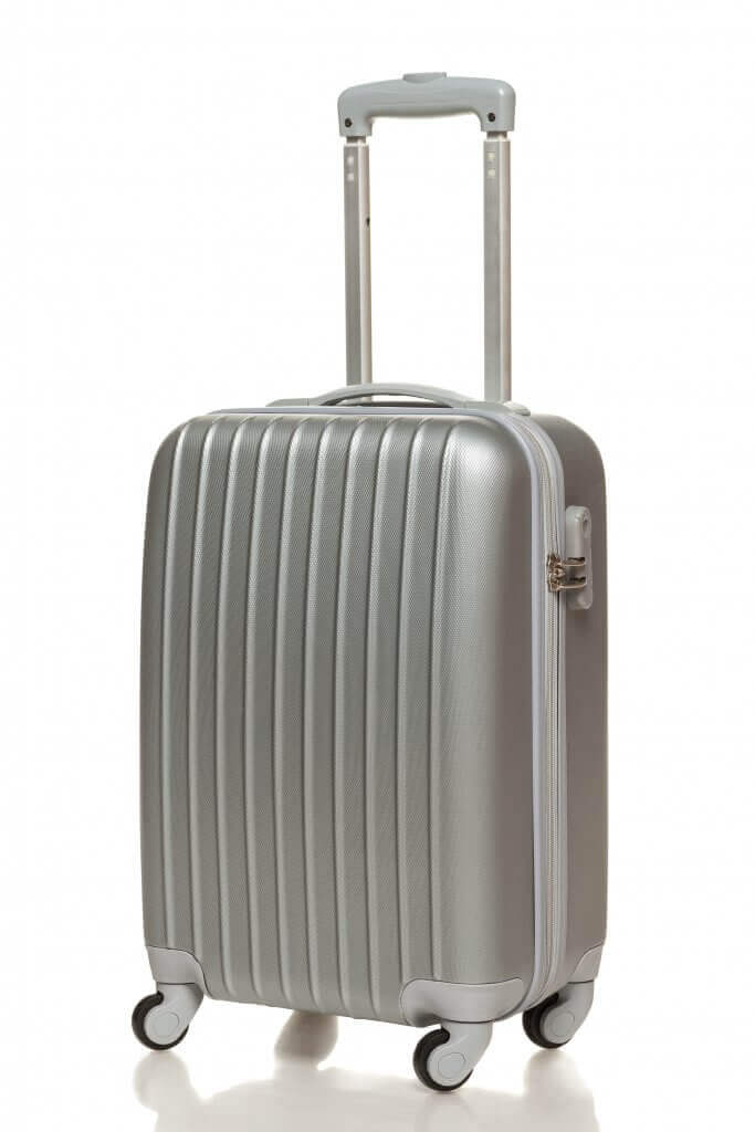 Solver carry on suitcase with handle