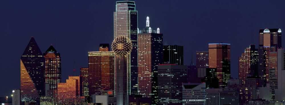 A night view in Dallas TX