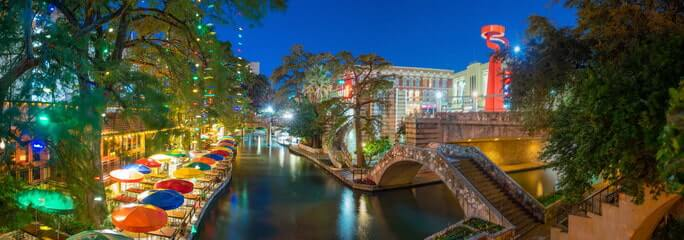 A night view in San Antonio TX
