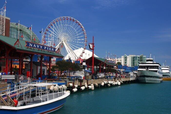 Navy Pier is located in Streeterville