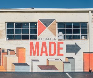 Atlanta made sign painted on the wall