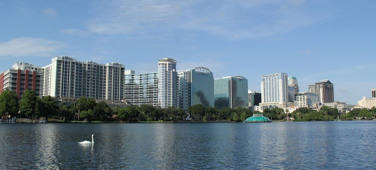 South Eola is a nice neighborhood surrounding the southern side of Lake Eola
