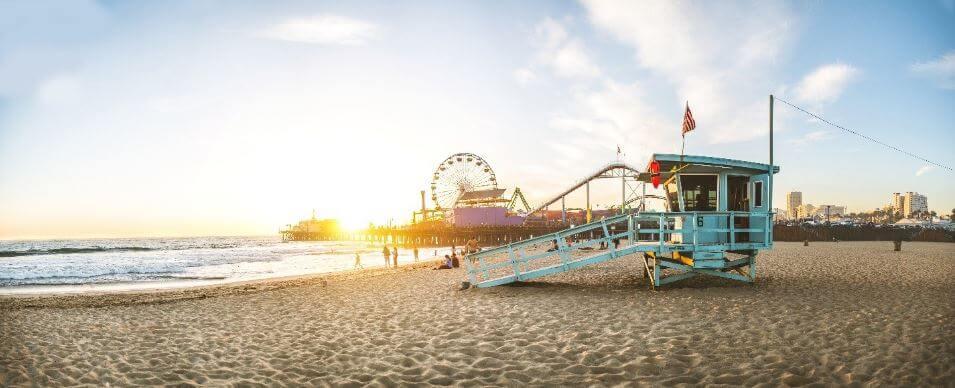 Summer beach in LA
