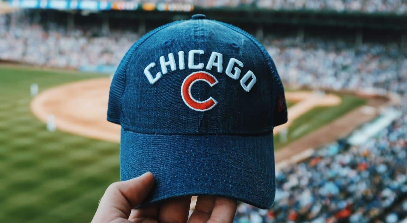 Chicago Cubs cap at Wrigley Field
