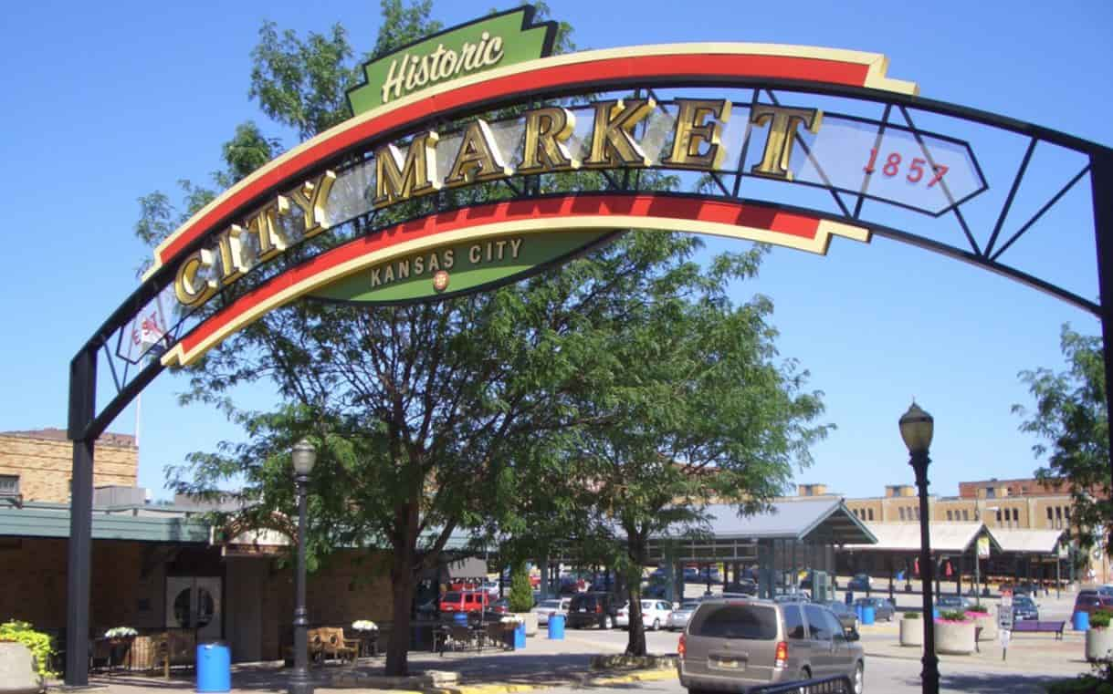 River Market is the home of the largest Farmer's Market in the Midwest