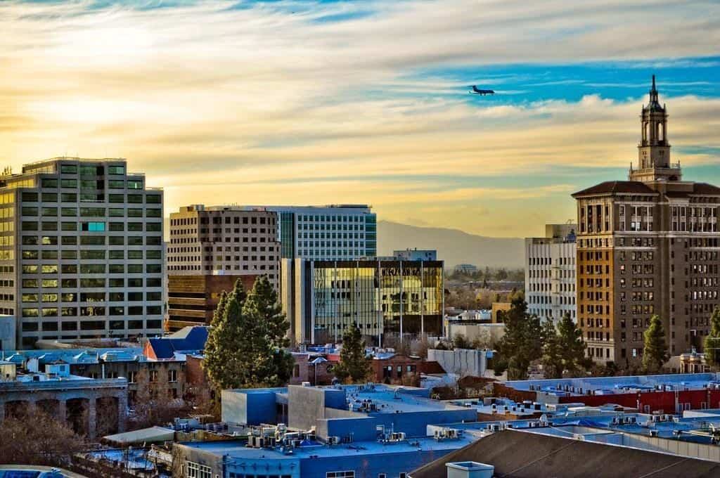 Downtown view in San Jose, California