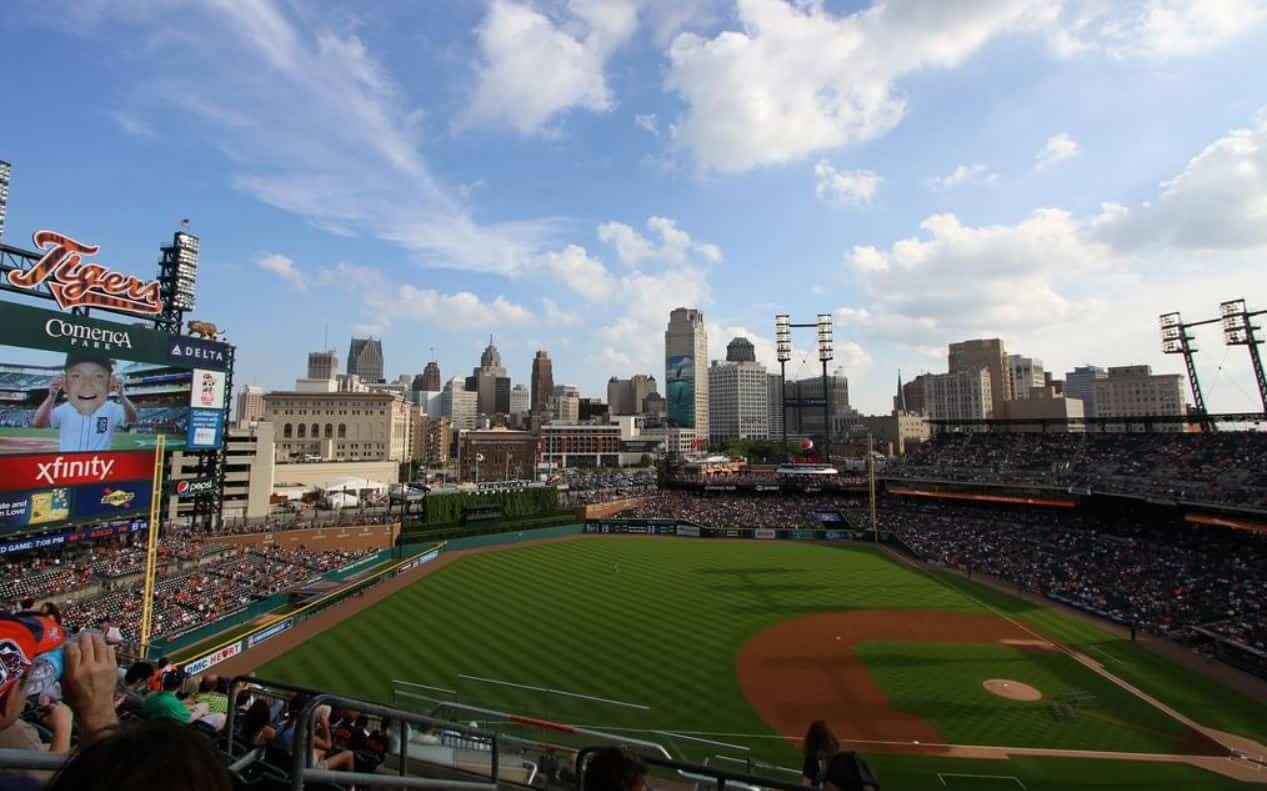 Woodbridge is where you'll find Comerica Park, the home of the Detroit Tigers baseball team