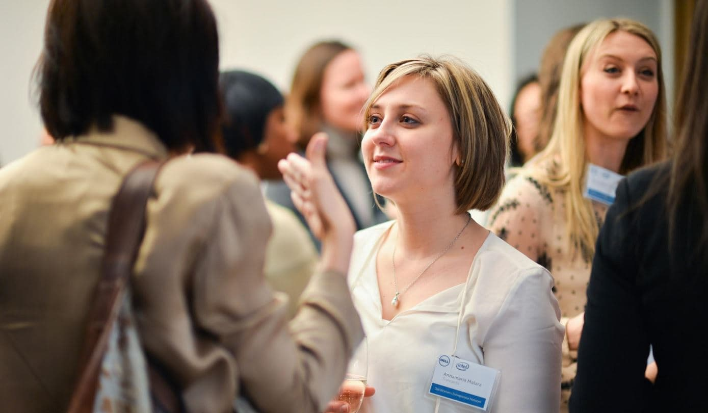 Women at business networking event