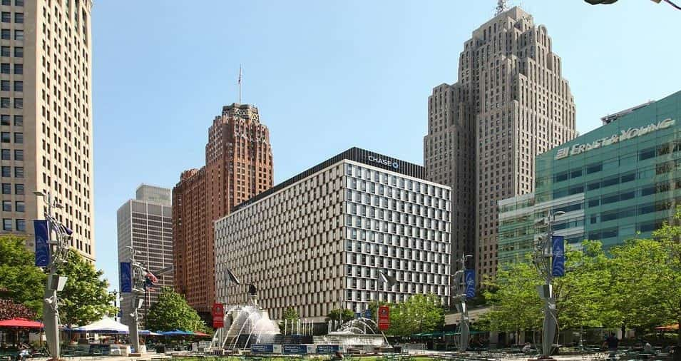 Detroit architecture and skyscrapers