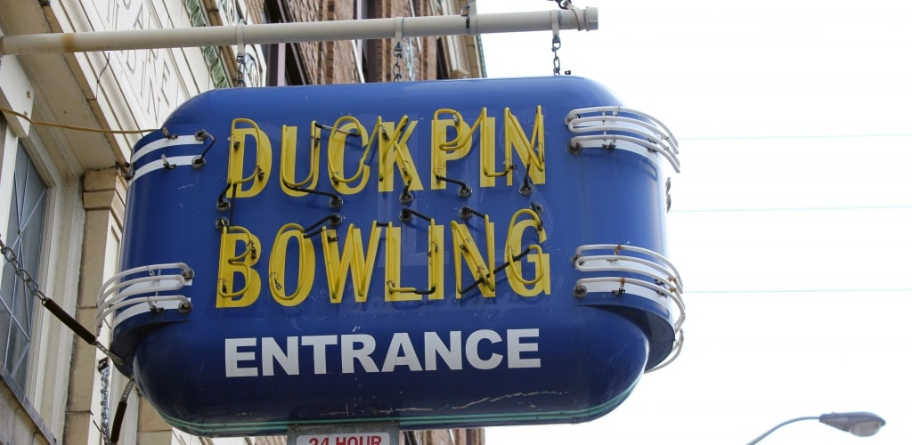 Indianapolis fountain square duckpin-bowling