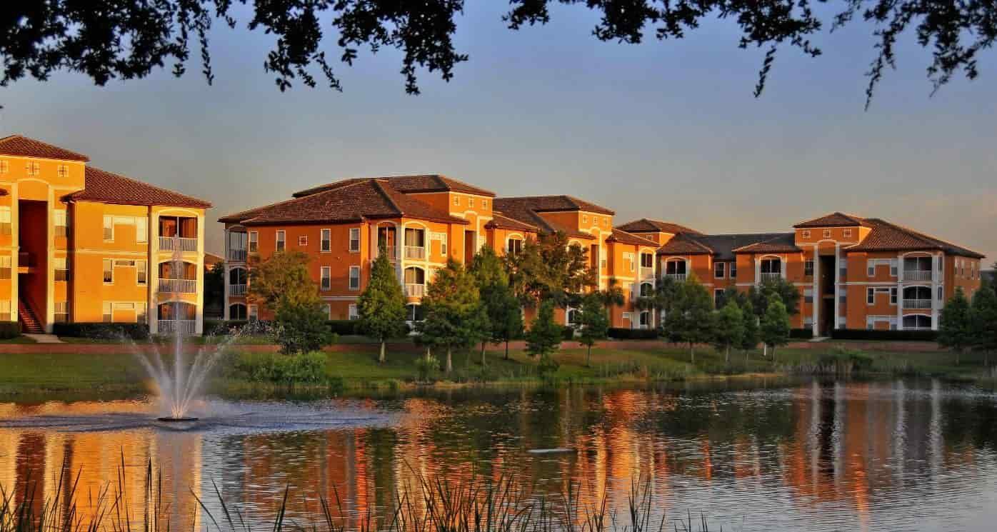 Orlando housing in the evening