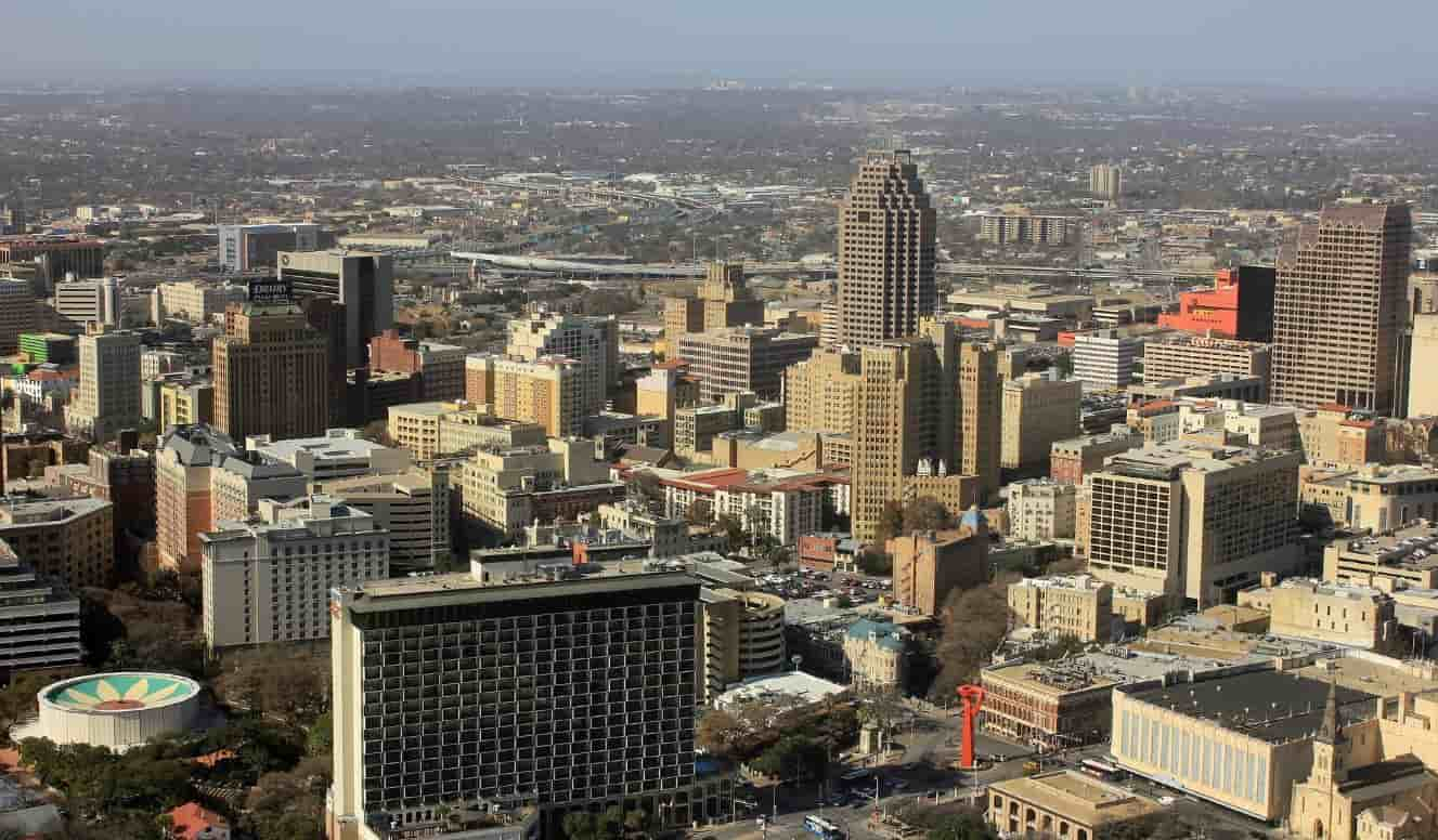 San Antonio city from the sky