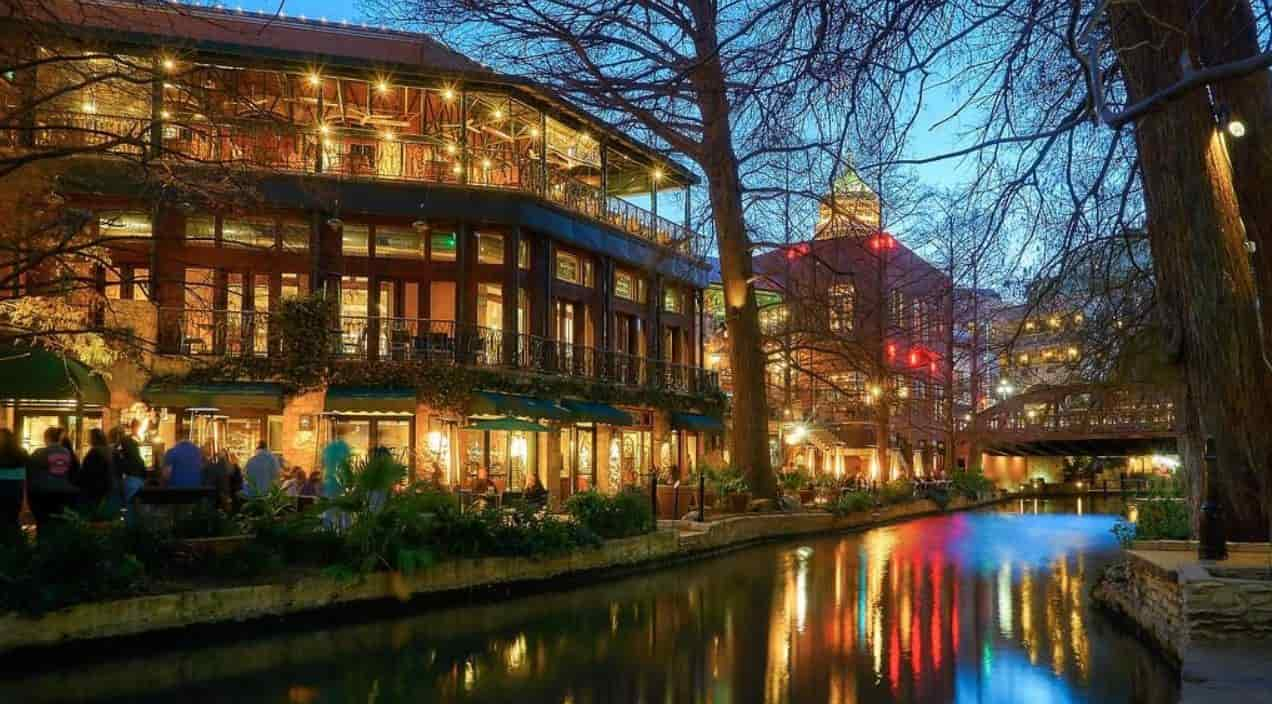 Buildings next to the river San Antonio Texas