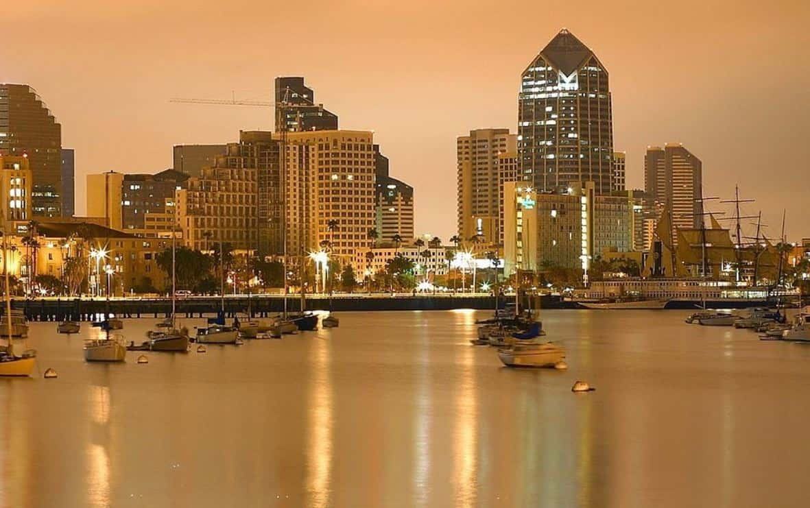 Downtown San Diego in the evening