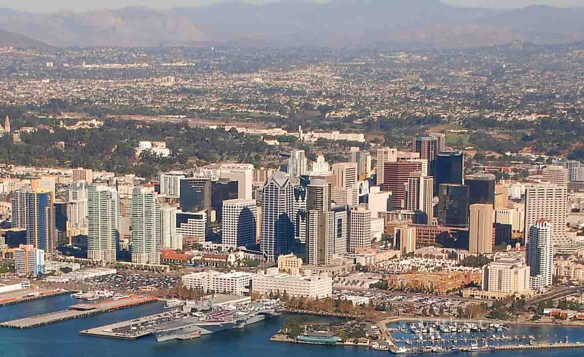 San Diego city view from the sky