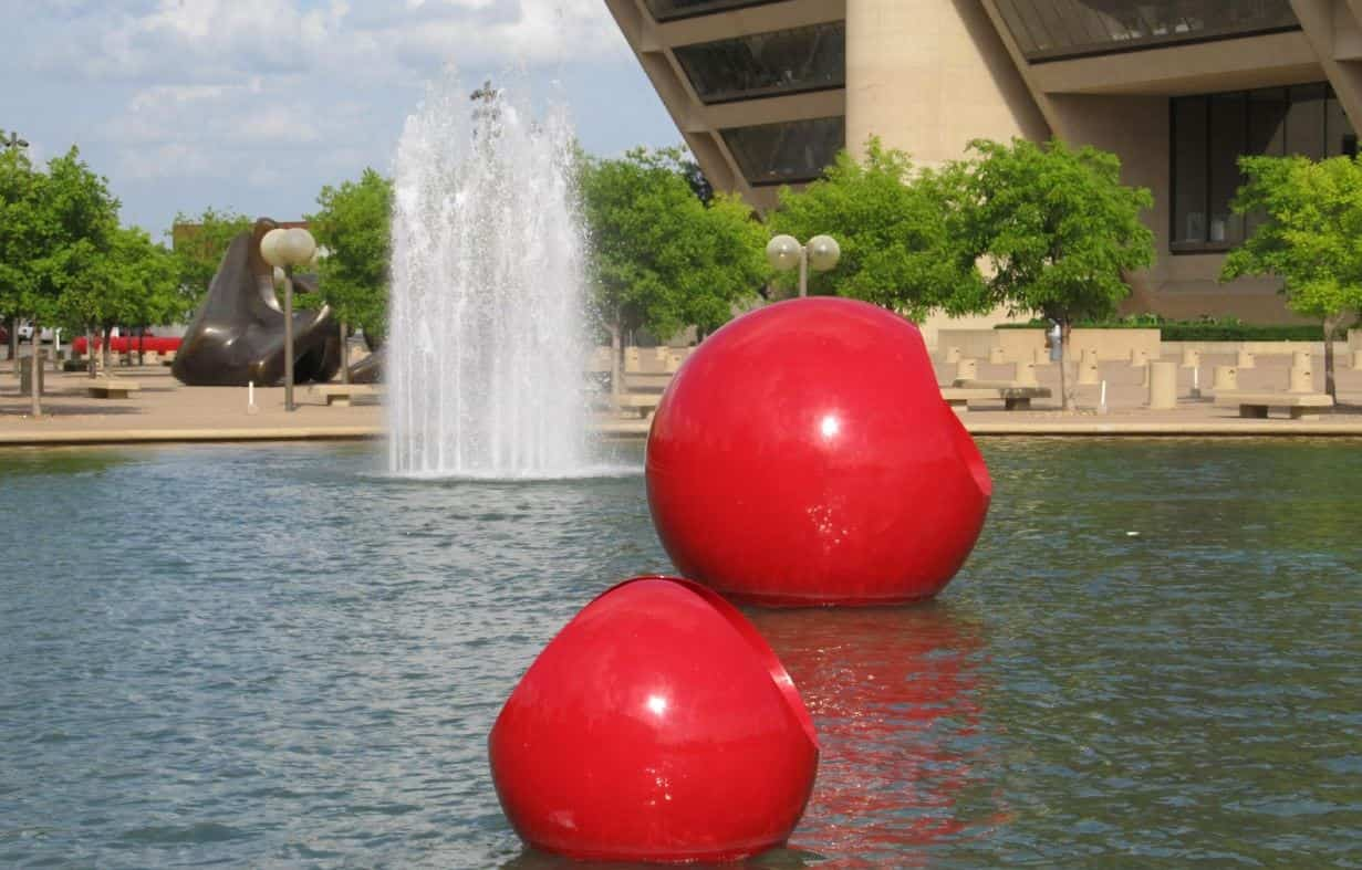 Red objects in DFW park