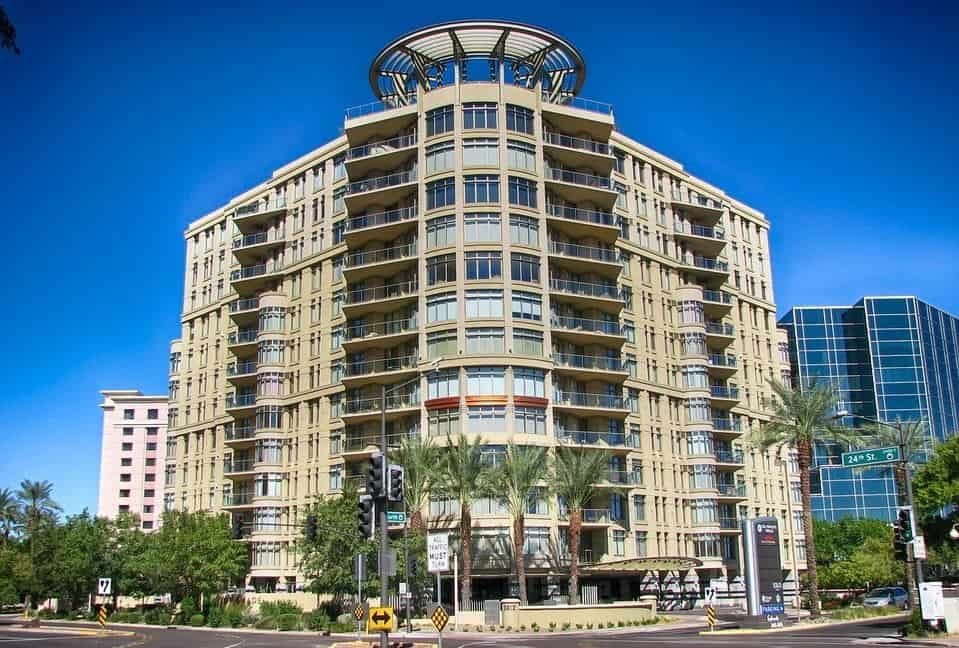 Luxury apartment building in downtown Phoenix