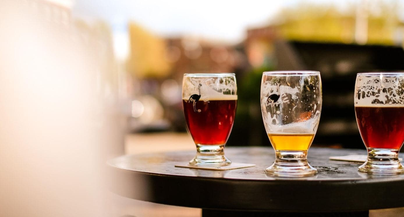 For $12, you're given a 9oz glass and four fill-ups. For $17, you're given a 16oz glass and three fill-ups. at Karbach Brewing Co.