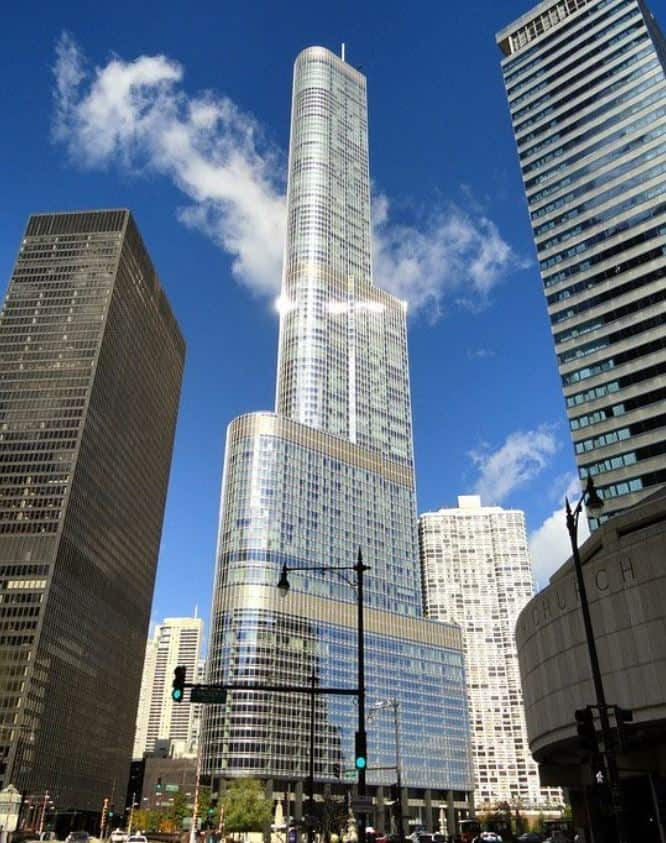 Trump Tower in downtown Chicago