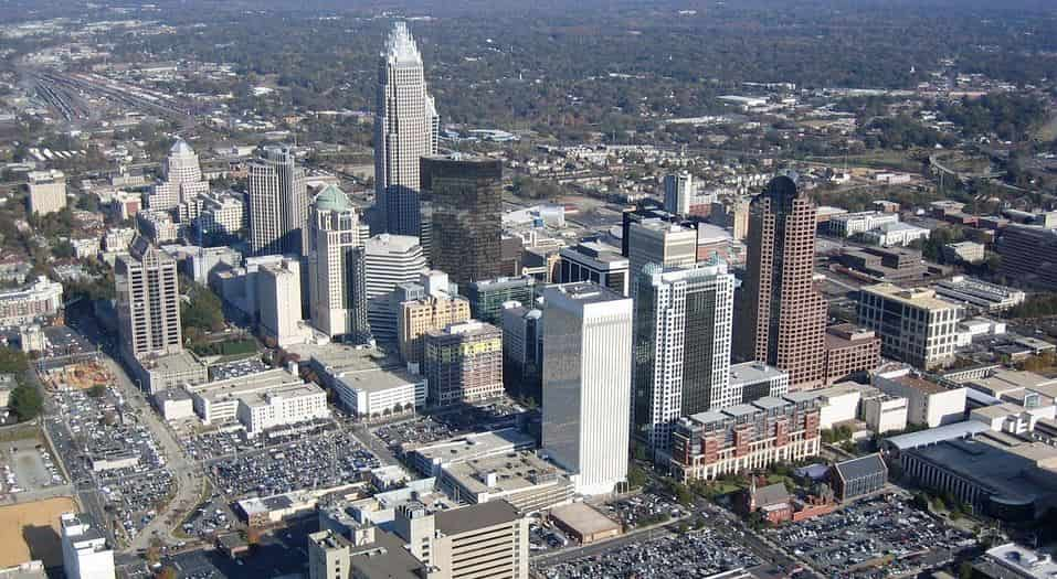 Downtown Charlotte sky view