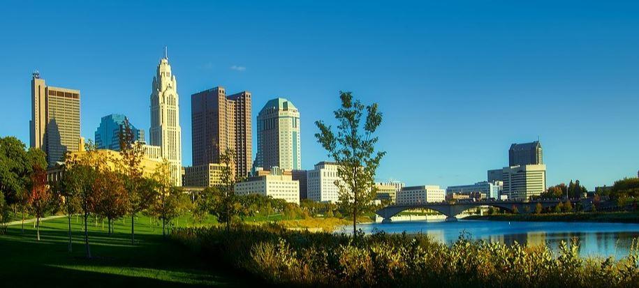 Columbus park views to downtown