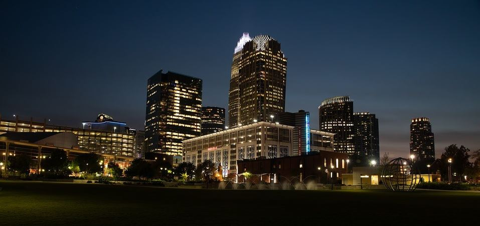 Charlotte landscape at night