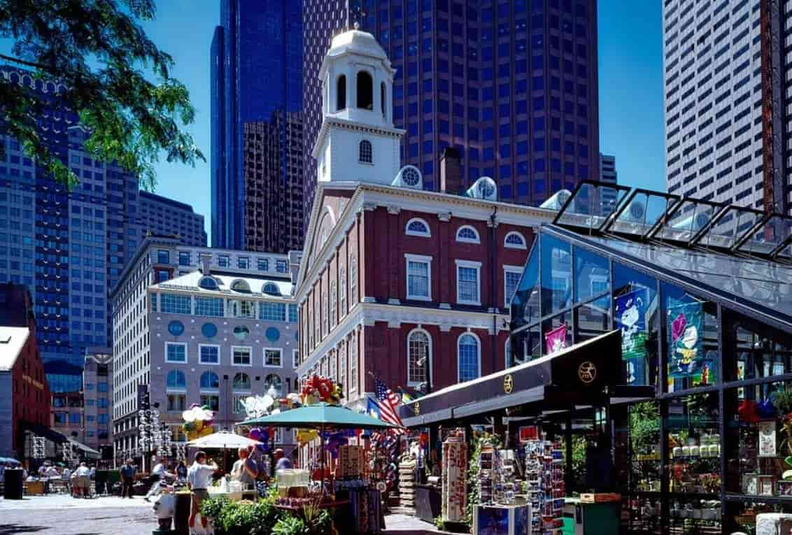 Faneuil Hall Marketplace is boutique options for upscale
