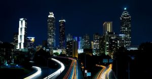 Atlanta Skyline from birds eye view