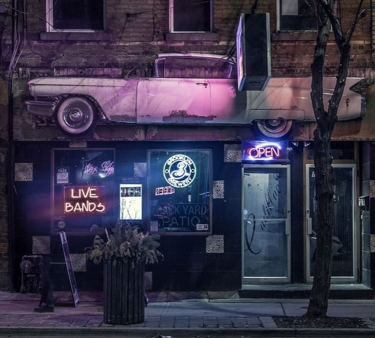 dive bar from outside