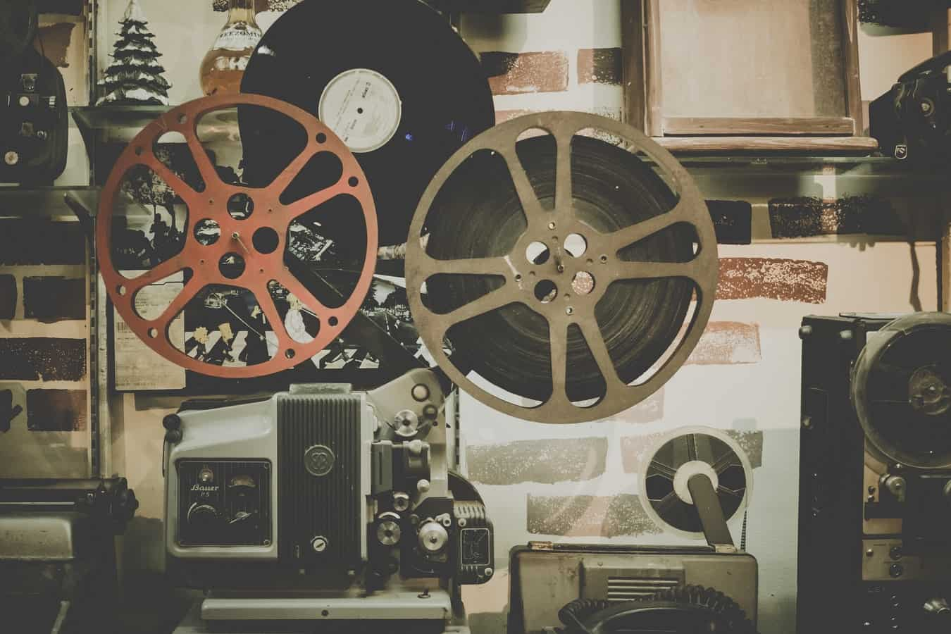 Angelika Film Center with film reels